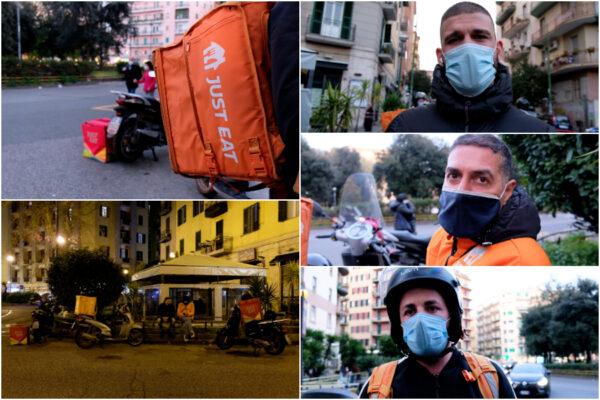 """Una notte con i riders: """"Quattro ore al freddo in giro per la città per 5 euro: le chiamate scarseggiano"""""""