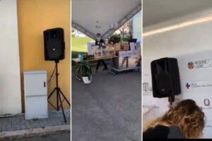 """'Discoteca' Spallanzani, dosi a ritmo di musica nel centro vaccinale: """"Così allietiamo l'attesa"""""""