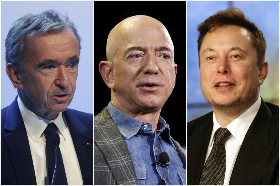 La pandemia non ferma i super ricchi, sono 660 in più rispetto al 2020: in testa Jeff Bezos di Amazon