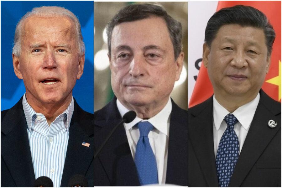 Tra Usa e Cina è guerra tecnologica, e Draghi si schiera con Biden