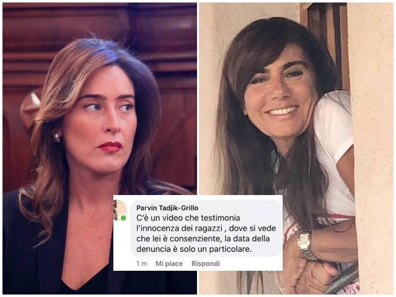 """La moglie di Grillo, contro Boschi, difende il figlio Ciro: """"Era consenziente, c'è il video"""""""