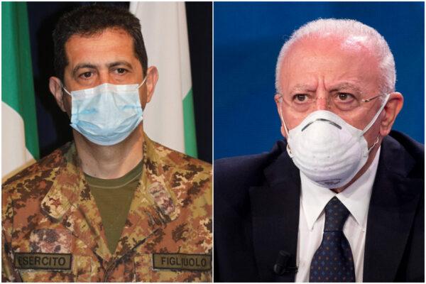 De Luca contro Figliuolo, ma la guerra imbarazza Letta e il Parlamento