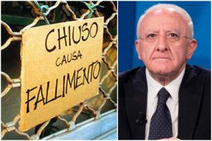 Il lockdown di De Luca uccide le imprese: 50 mila a rischio chiusura