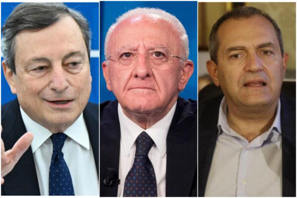De Luca diventa sudista: critica Draghi e si avvicina a de Magistris