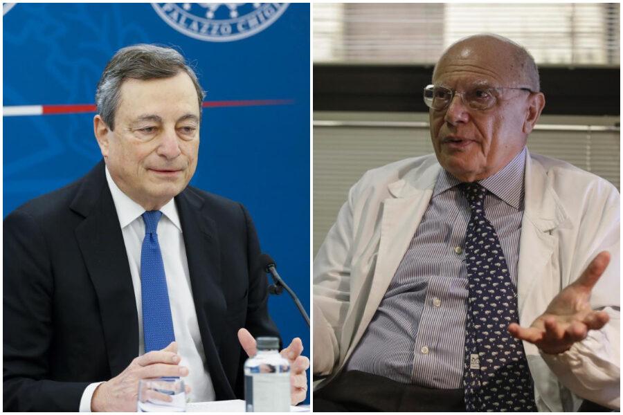 """""""Rischio calcolato male"""", l'infettivologo Galli contro le riaperture di Draghi"""