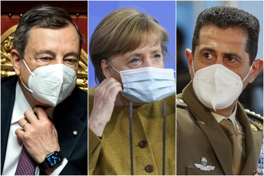 Lo spread Italia-Germania anche sui vaccini: il sistema Merkel doppia il duo Draghi-Figliuolo