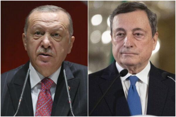 Erdogan dichiara guerra a Draghi, il campo di battaglia è la Libia