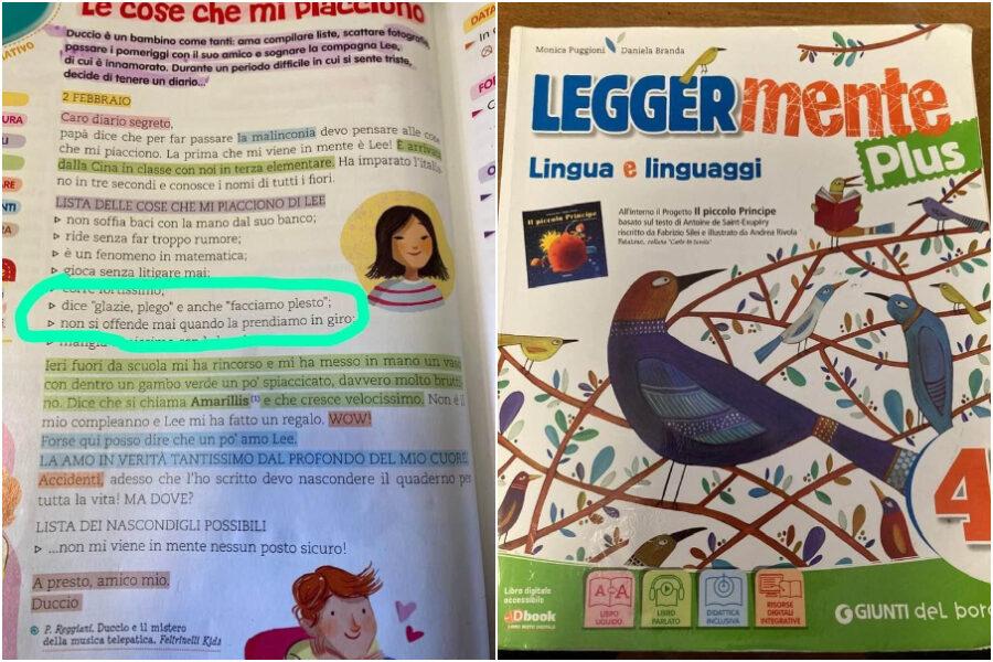 """La bimba orientale dice """"Glazie, plego, facciamo plesto"""": bufera sul libro per le elementari"""