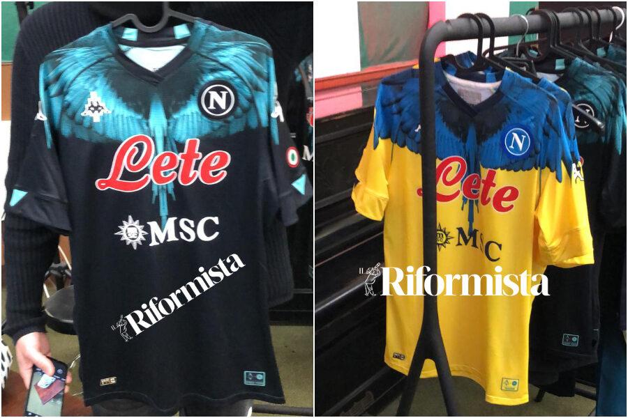 Spuntano due maglie con fantasia Marcelo Burlon del Napoli, una è per Maradona?