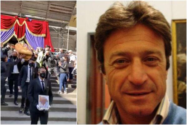 """L'addio a Maurizio Cerrato, il manifesto di moglie e figlie: """"Una lama ha trafitto 4 cuori"""""""