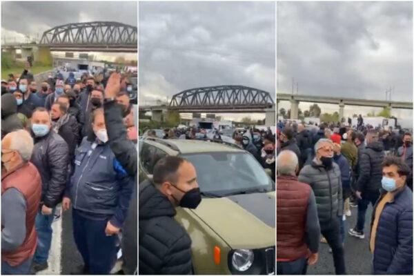 Mercati chiusi in Campania, esplode la protesta: autostrada bloccata per ore, anche De Luca nel traffico