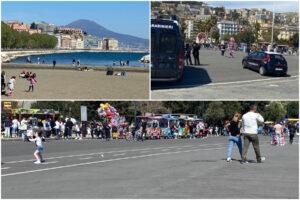 A Napoli lungomari, parchi e lidi affollati: relax e polemiche alla vigilia della zona gialla