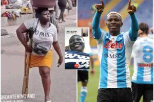 """Osimhen trova Mary Daniel, la ragazza che vende l'acqua ai semafori di Lagos: """"Ti aiuterò io"""""""