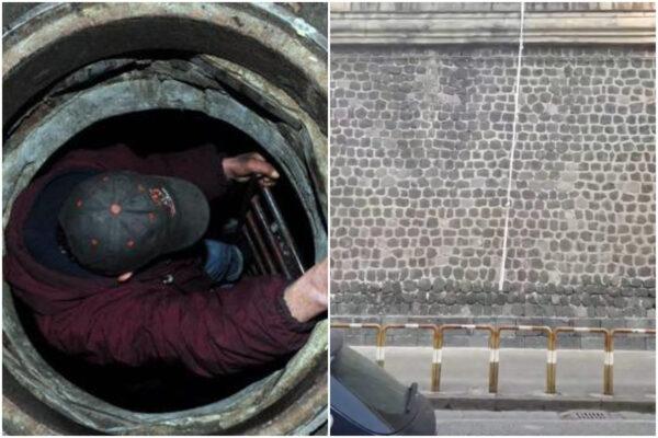 Carcere Poggioreale, fuga durante l'ora d'aria: detenuto resta incastrato in un tombino