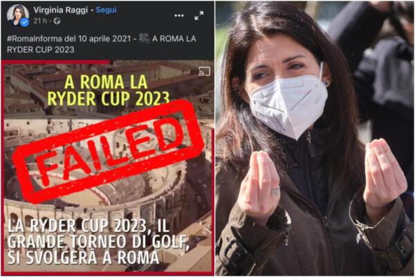 Il Colosseo diventa l'Arena di Nimes, la gaffe della Raggi per lanciare la Ryder Cup di golf a Roma