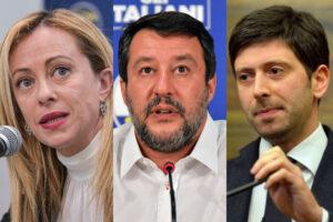 Fallito il piano della Meloni di dividere il centrodestra e far cadere il governo, Salvini salva Speranza
