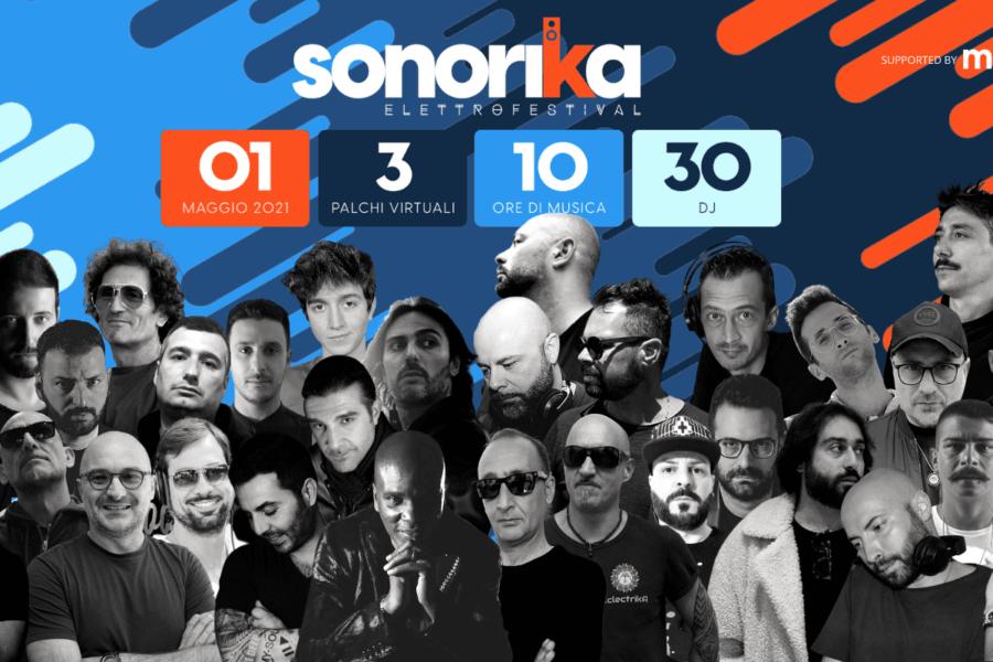 Sonorika ElettroFestival, 30 dj per 10 ore di musica live su 3 palchi virtuali