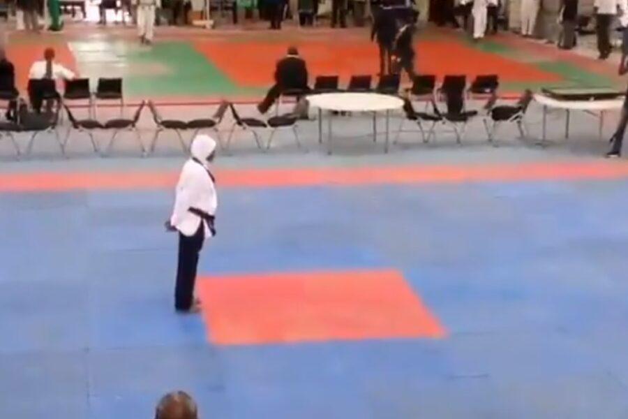 Atleta di Taekwondo incinta all'ottavo mese vince la medaglia d'oro ai campionati nazionali