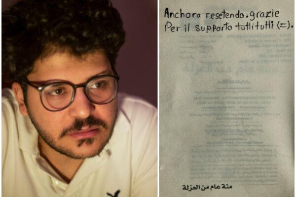 """""""Resisto, grazie a tutti"""", il messaggio di Patrick Zaki dall'inferno del carcere"""