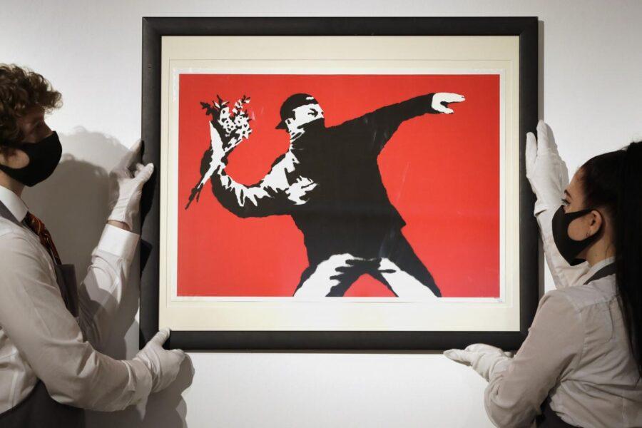 Vendesi Banksy in bitcoin: prima asta con criptovalute per un'opera d'arte fisica
