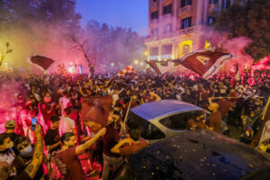 Foto Alessandro Garofalo/LaPresse  10 Maggio 2021 Salerno, Italia  sport calcio  Festeggiamenti in città per la promozione della Salernitana in serie A  Photo Alessandro Garofalo/LaPresse  10 May 2021 Salerno, Italy  sport football  City celebrations for Salernitana's promotion to Serie A