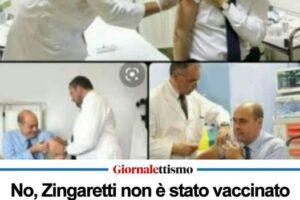 Zingaretti e la fake news dei no vacs: ecco la verità e le foto