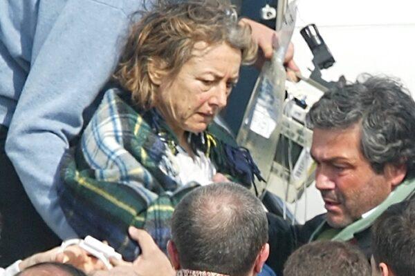 ©Mauro Scrobogna / Lapresse 05-03-2005 Roma Interni Campino arrivo Sgrena Nella foto: Giuliana Sgrena