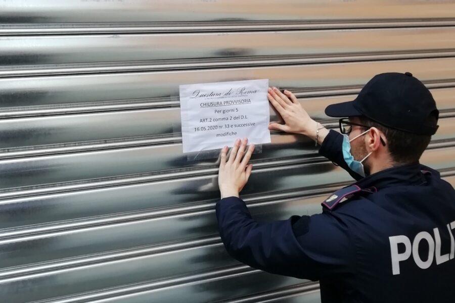 Controlli anticovid della Polizia