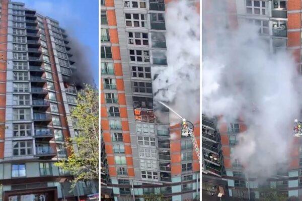 Incendio a Londra in un palazzo di 19 piani: oltre cento pompieri impegnati nell'operazione
