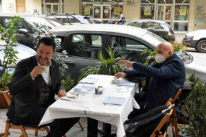 MATTEO SALVINI SEGRETARIO DELLA LEGA GABRIELE ALBERTINI