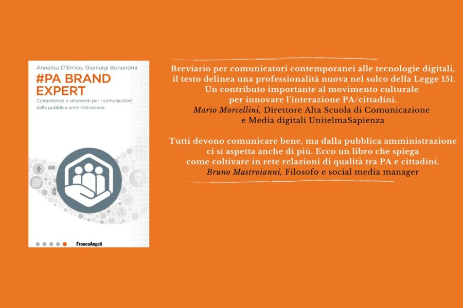 La PA come un brand: il libro firmato D'Errico-Bonanomi ci dice come comunicarla