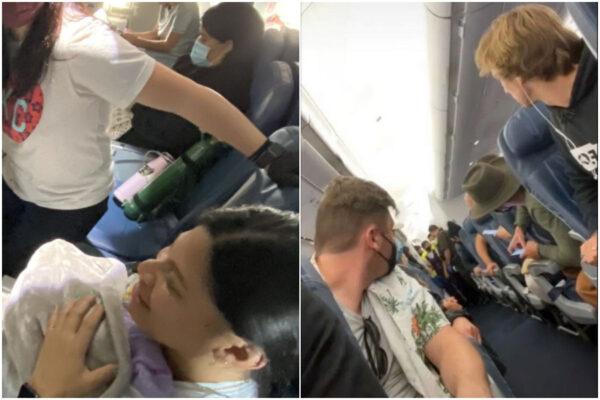 Partorisce in aereo e non sapeva di essere incinta, sorpresa in un volo verso le Hawaii