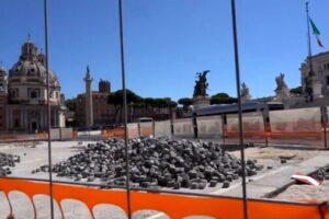 Lavori a piazza Venezia