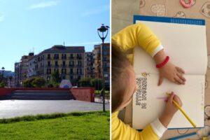 """A Piazza Nazionale un murales per Noemi, la bimba ferita a 4 anni in un agguato di camorra: """"Lo colorerà lei"""""""