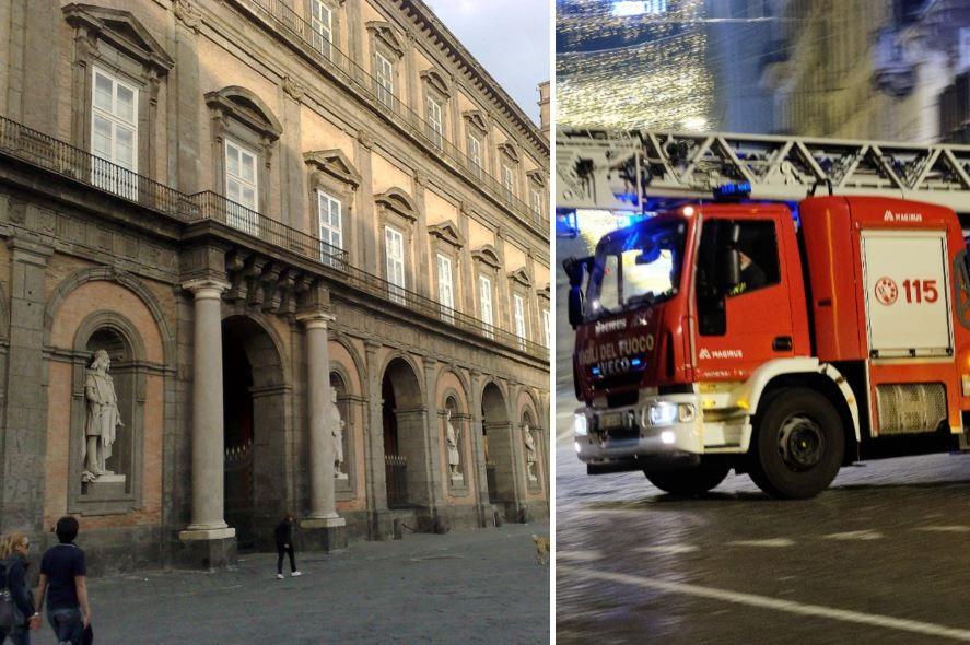 Palazzo Reale, incendio nella notte domato dai vigili