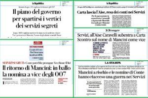 Conte voleva Mancini a capo dei servizi, Report si occupi di lui