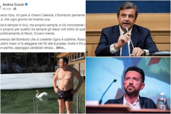 """Andrea Scanzi fa body shaming su Calenda, il post su """"Bombolo"""" criticato anche dai suoi fan"""