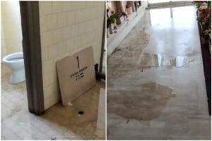 La vergogna del cimitero Flaminio: lapidi buttate nelle toilette