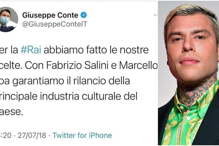 """""""Che brutta la Rai lottizzata"""", Conte prova a sfruttare il caso Fedez a suo vantaggio ma fa autogol"""