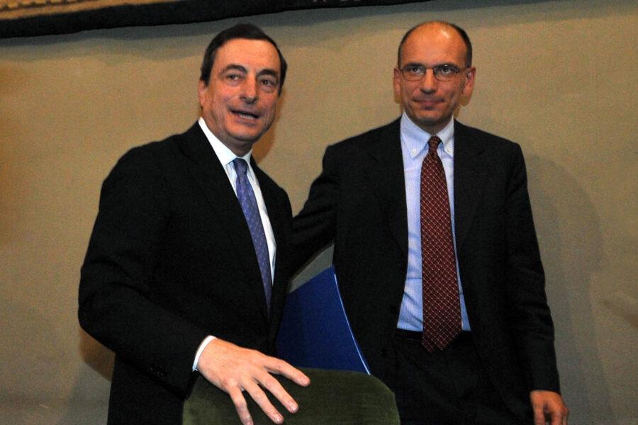 """Draghi contro Letta: """"Non è il momento di prendere soldi ma di darli"""""""