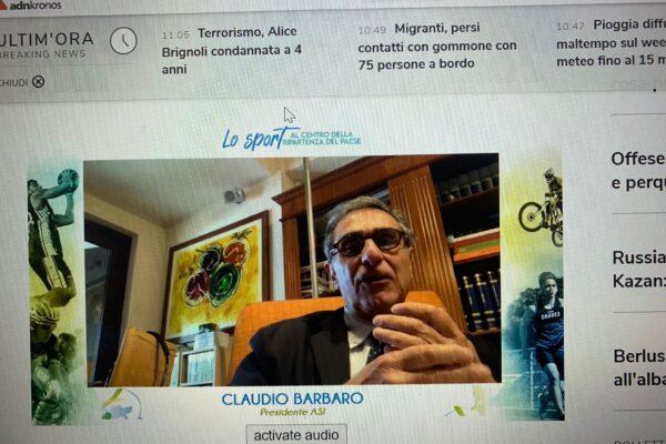 Claudio Barbaro, presidente Asi