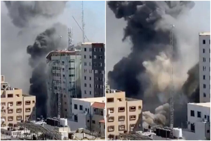 """Guerra di Gaza, Israele bombarda grattacielo sede di Al-Jazeera e AP: """"Inorriditi, il mondo saprà meno cose ora"""""""