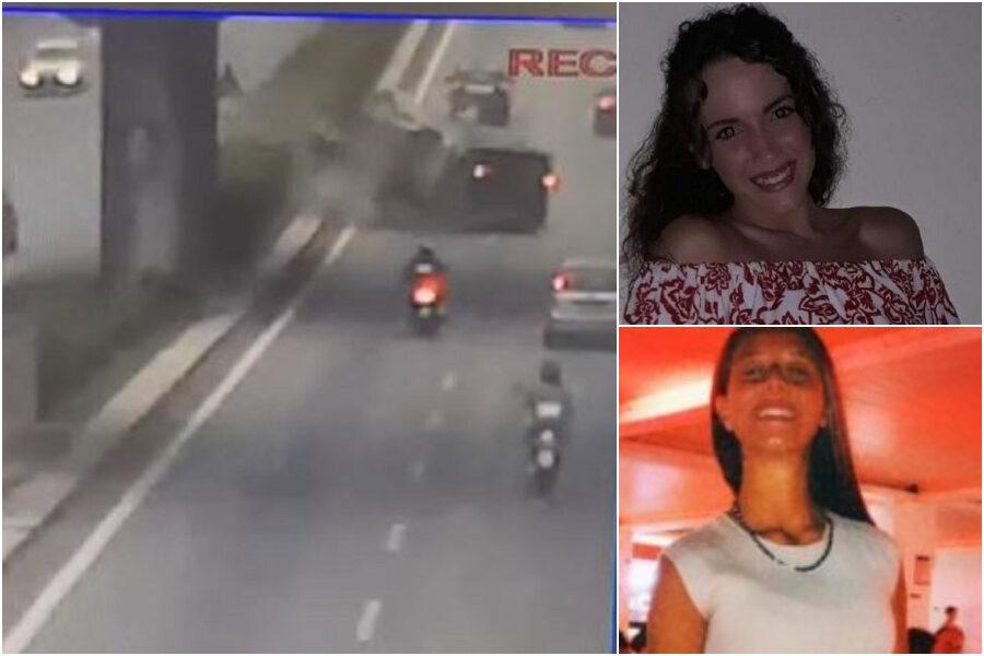 Chiara e Alessia, morte nello schianto a Palermo: le immagini dell'impatto terrificante