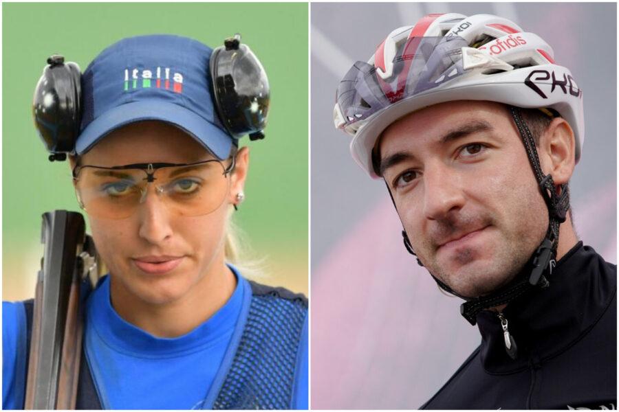 Elia Viviani e Jessica Rossi portabandiera dell'Italia alle Olimpiadi di Tokyo