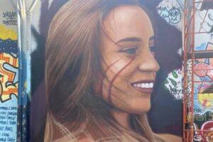 Murales per Luana D'Orazio a Roma (Facebook Jorit Agoch)