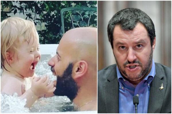 """Coppie omosessuali, Luca Trapanese chiama Salvini: """"Io e Alba felici di averti ospite a casa nostra"""""""