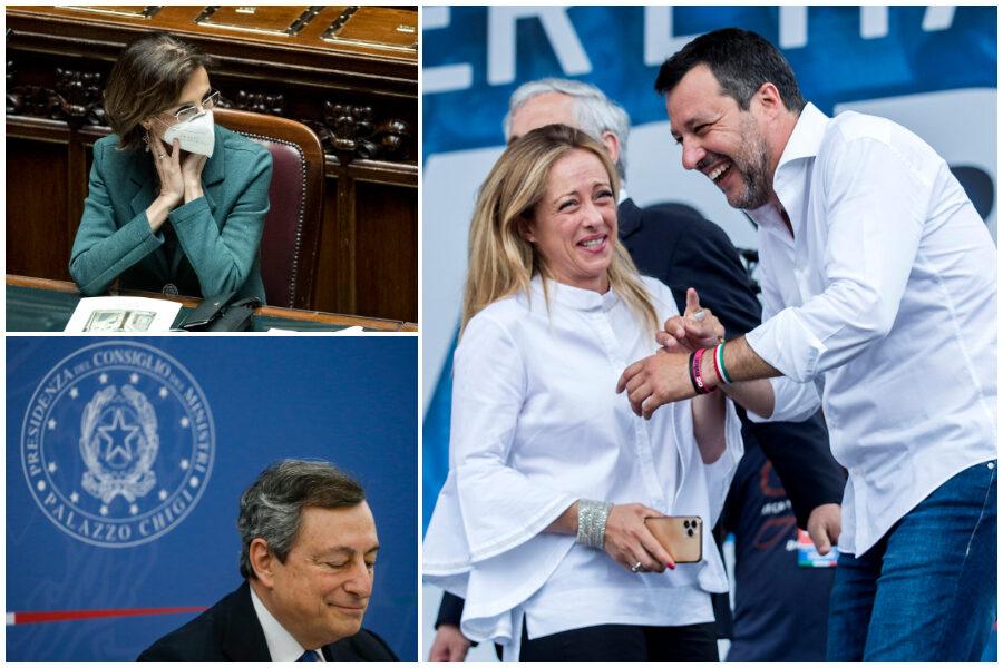 Primi 100 giorni di governo: Draghi promosso ed exploit di Cartabia, Meloni scalza Salvini