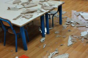 Crolla il controsoffitto, paura alla scuola Montessori