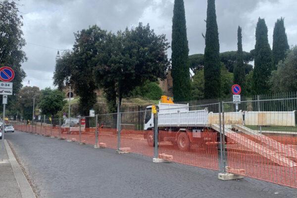 Roma, lavori a via dei Cerchi: in arrivo una nuova ciclabile