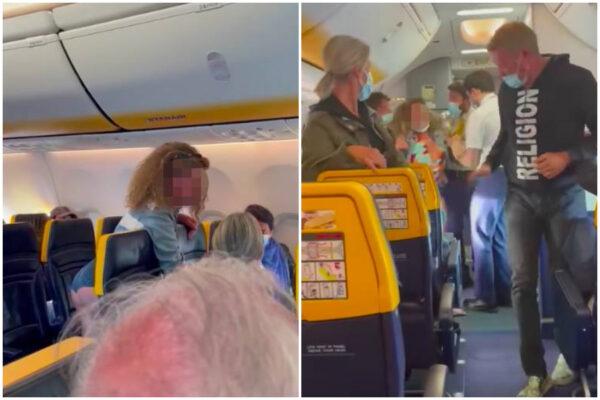 """Sputi e calci sul volo Ibiza-Milano, donna rifiuta di usare la mascherina: """"Mio fratello è maresciallo"""""""